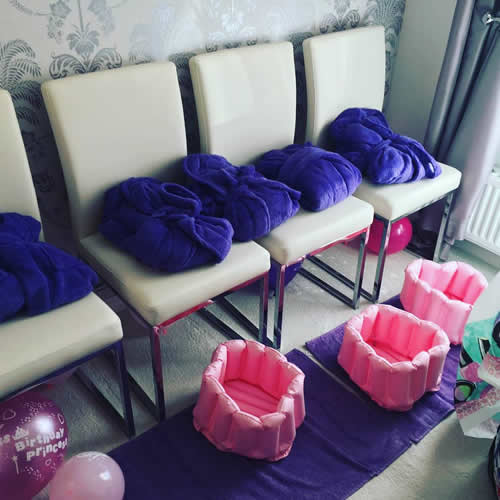 Pamper party equipment and robes