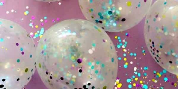 Glitter and balloons